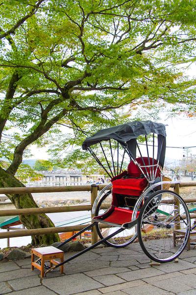 Rickshaw in Arashiyama, Kyoto