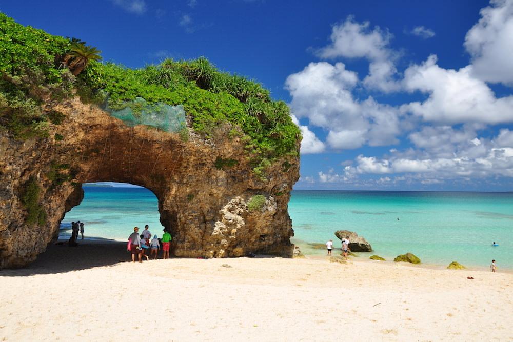 Miyakojima island in Okinawa on a sunny day