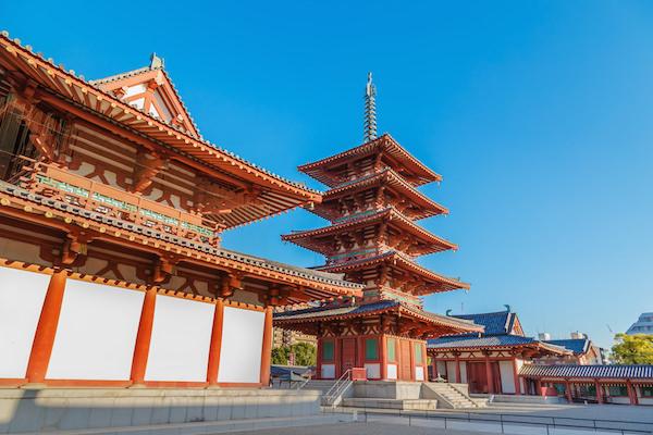 Shintenoij temple in Osaka