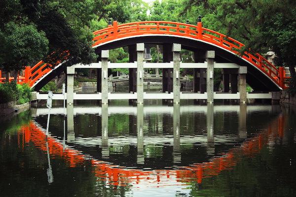 Bridge in Sumiyoshi shrine in Osaka