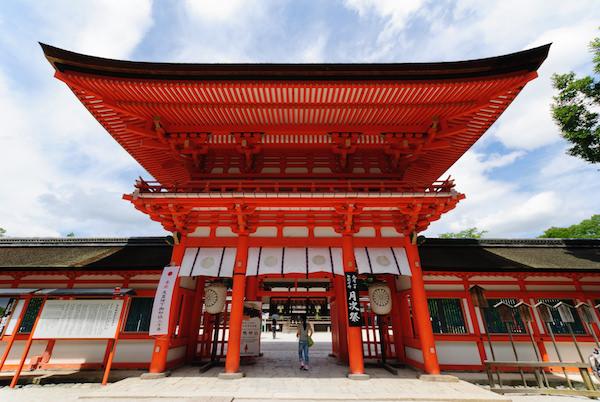 Shimogamo shrine entrance