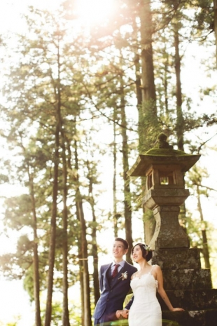 Pre-wedding photo in cedar forest in Hakone with CHiKA