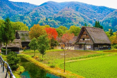 A countryside in Japan