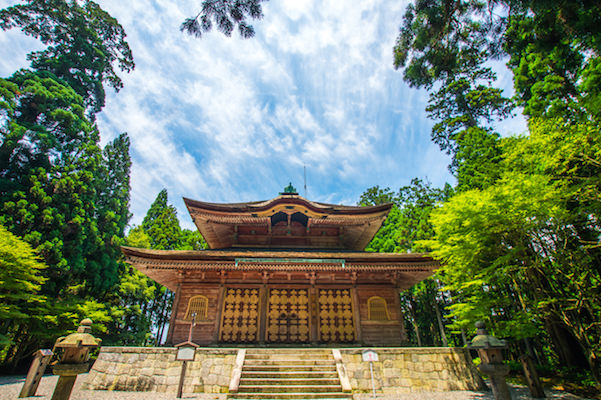 Enryakuji temple during summer time