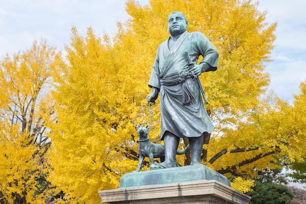 Takamori Saigo statue in Ueno park