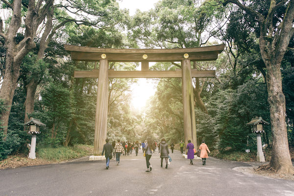 Meiji shrine in Tokyo