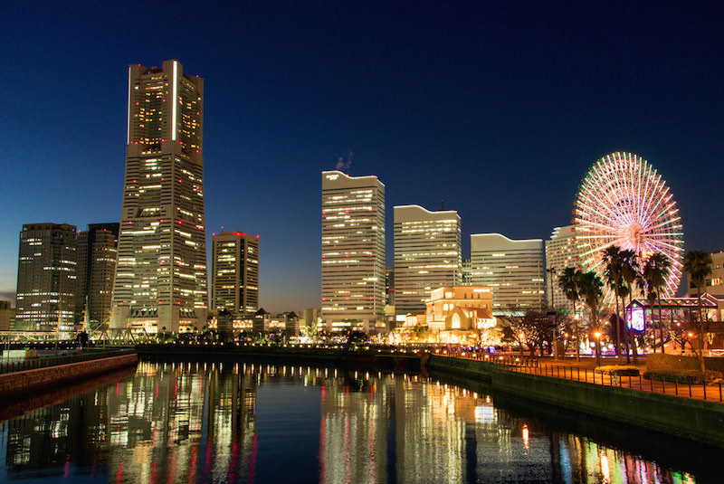 Beautiful night view of Yokohama
