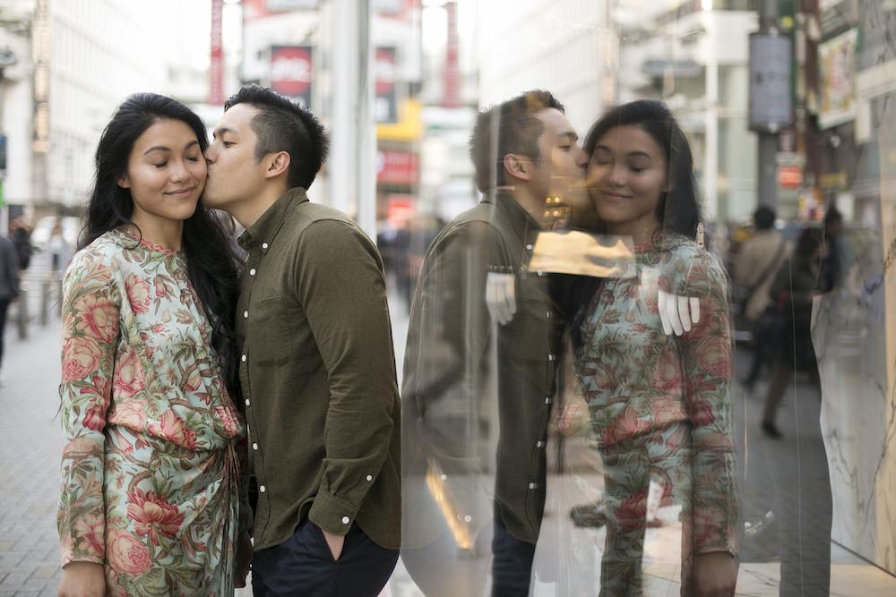 Vacation photo for 5th wedding anniversary in Shibuya, Tokyo