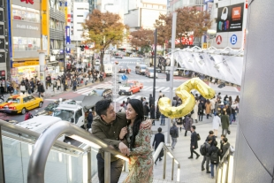 Vacation photo for 5th wedding anniversary in Shibuya, Tokyo