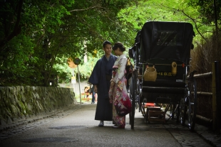 Pre-wedding with kimono in Arashiyama, Kyoto