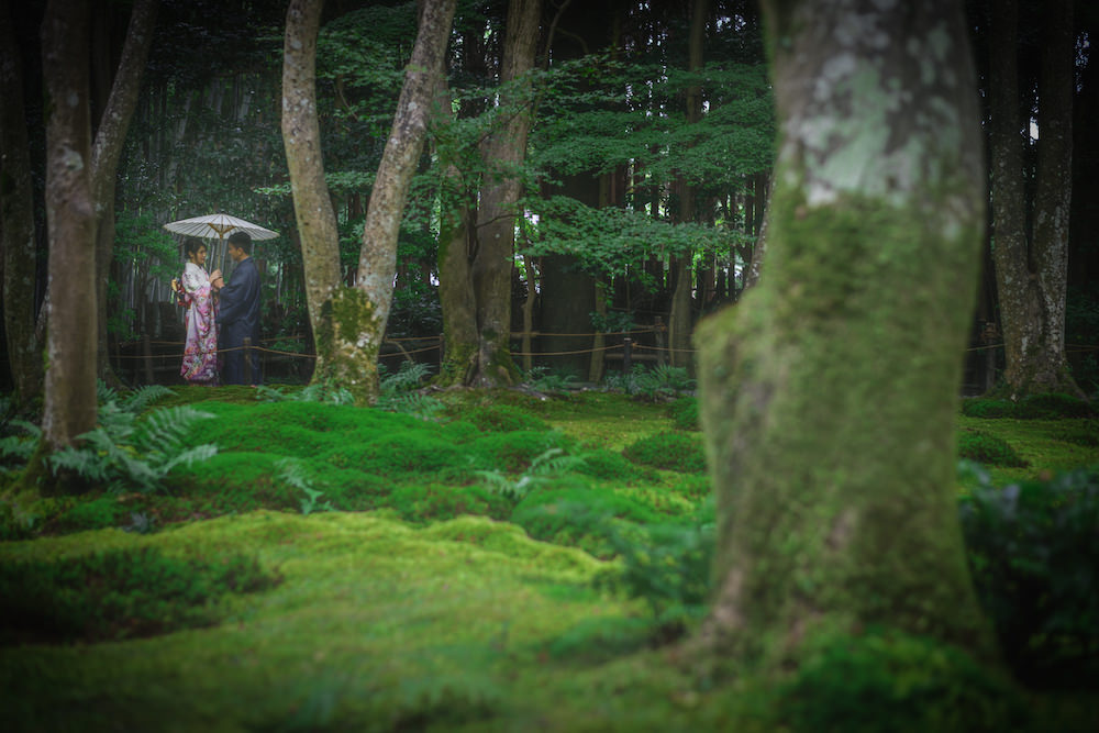 Pre-wedding photo at a temple nearby in Arashiyama, Kyoto