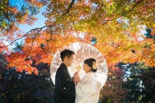 Pre-wedding Kyoto Autumn Kimono