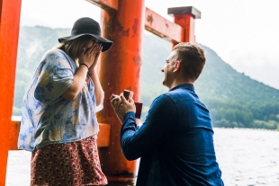 Perfect proposal in serene Hakone