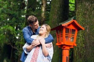 Perfect proposal in serene Hakone